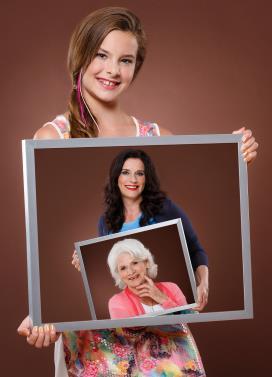 3 Generationen im Haarwerk