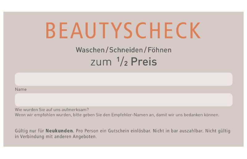 Beautyscheck für Neukunden